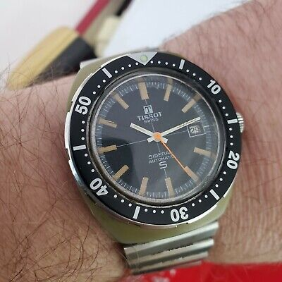 Rare Vintage Tissot Sideral 40mm Diver Watch Automatic Working  • 225£