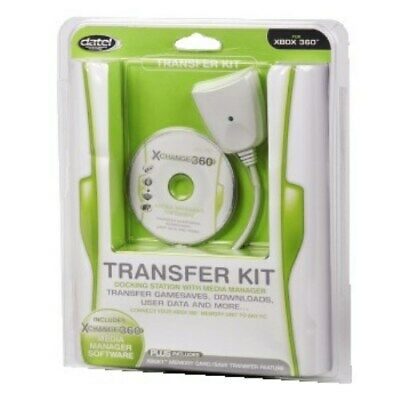 Datel Transfer Kit Docking Station Media-Manager Data Cable For Xbox 360 Xbox 1 • 10.90£