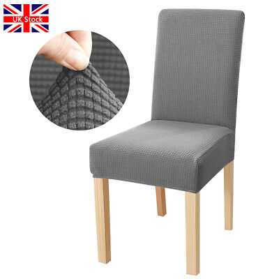 £3.29 • Buy Chair Covers Elasticity Slipcovers Protective Seat Covers Dining Home Decor