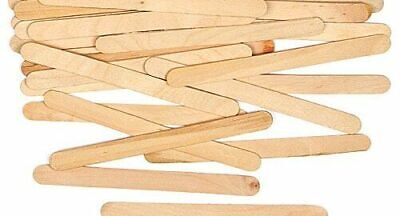 50 Pack Plain Natural Wood Wooden Lolly Sticks, For Craft, Ice Lollipops • 1.99£