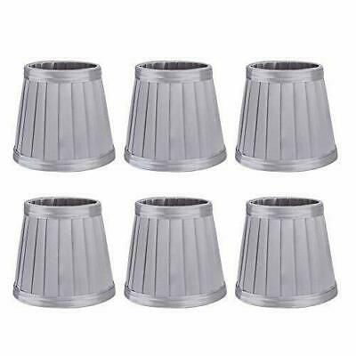 £14.80 • Buy 6Pcs Bedroom Cloth Fabric Lampshade Lamp Cover Shade For E14 Chandelier Wall