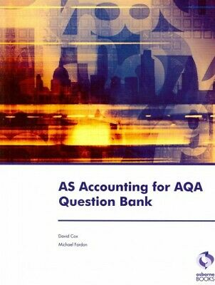 £11.98 • Buy As Accounting For Aqa Question Bank, Paperback By Cox, David; Fardon, Michael...