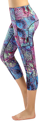 Sugar Pocket Womens Outdoor Fitness Tights Capri Running Yoga Pants M • 15.98£