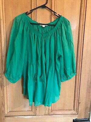 AU9.99 • Buy STUNNING GREEN COUNTRY ROAD LADIES TOP - Size L