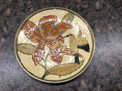 Brass Enamelled Plate Made In India • 3£