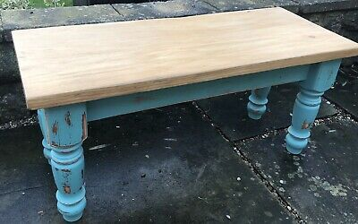 Table - Shabby Chic Solid Pine Coffee Table-upcycle Vintage Funiture • 9.50£