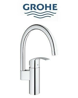Grohe 33202002 Eurosmart Single Lever Mono Sink Mixer High Swivel Spout • 84.95£