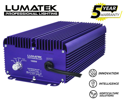 Lumatek Dimmable 1000w Digital Ballast 240v Hydroponic Grow Light Kit HPS Lamp • 187£