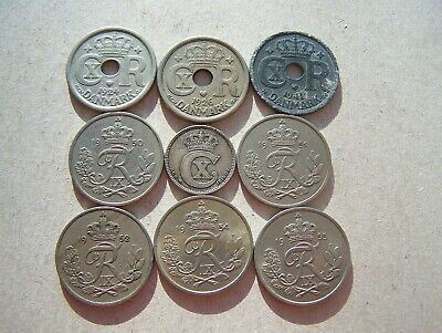Denmark Collection Of 25 Ore Coins 1919 - 1955 (All Different) • 0.99£