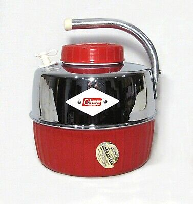 $24.50 • Buy Coleman Lantern Co. Chrome Plated 1 Gallon Water Jug – Made In Early 1960's