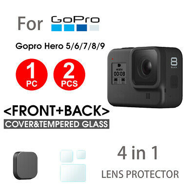 AU5.95 • Buy For GoPro Hero 9 8 7 6 Black Camera Accessories 1x/ 2x Screen Protector Lens Cap