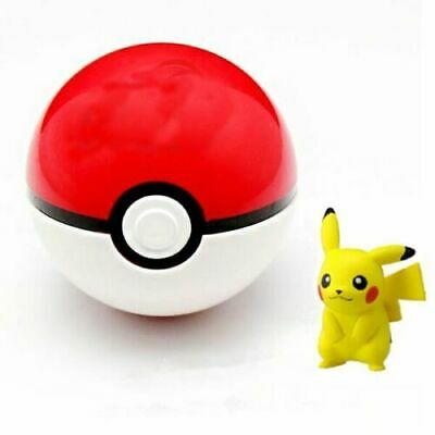 Pokemon Pokeball Pop-up 7cm Plastic BALL Toy Action Figure+ Free Pikachu Monster • 5.99£