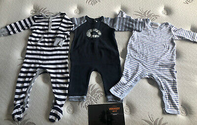 AU10 • Buy Baby Grow Suits Rompers Bebe Marquise X3 Size 0 Size 6-12m