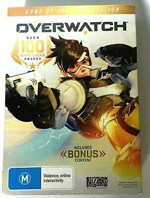 AU29.50 • Buy OVERWATCH Game Of The Year Edition With Bonus Content, PC