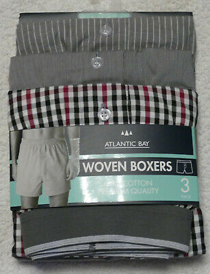 Atlantic Bay  Mens Woven Boxer Shorts Xl #2 - Pay Pal • 12.50£