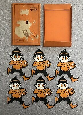 $ CDN635.85 • Buy (6) Dennison Halloween Rare Vintage Gobolink Die-Cut Cut-Outs In Original Sleeve