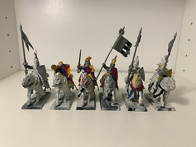 6 BRETONNIAN KNIGHTS OF THE REALM W COMMAND Plastic Warhammer BRETONNIA • 29.99£