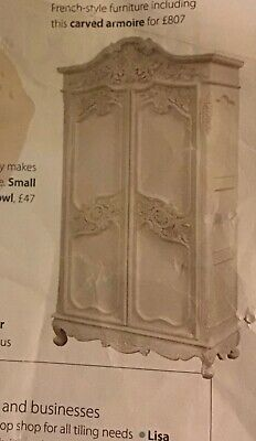 French Style Carved Armoire • 450£
