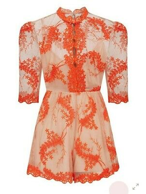AU75 • Buy Alice McCall Honeymoon Playsuit Size 4 Rrp $395 Unworn Tags Attached