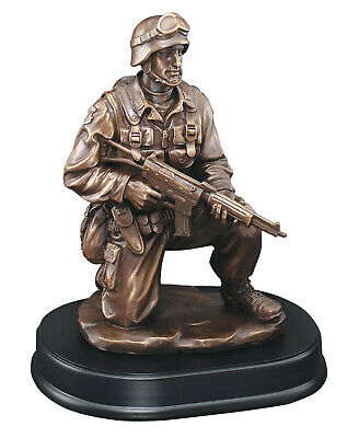 $38.99 • Buy Patrol Soldier Statue Trophy US Military 8  Tall . Free Engraving.
