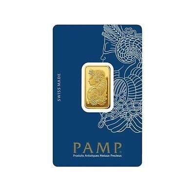 AU135 • Buy 1gram PAMP Suisse Gold Mint Bar With Certificate