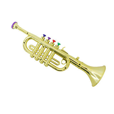 Kids Toy Musical Instrument Trumpet With Color Coded Keys For Kids Party • 10.52£
