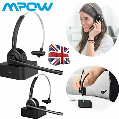 £29.41 • Buy Mpow Over Ear Bluetooth Headset Headphones Driver Call Center W/ Charging Dock