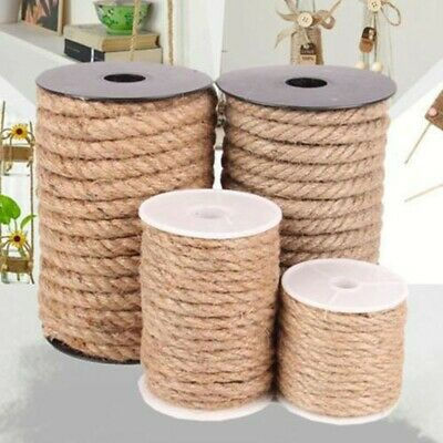 10 Meter Natural Brown Jute Burlap Hemp Twine String Cord Rope For Arts Craft • 6.73£
