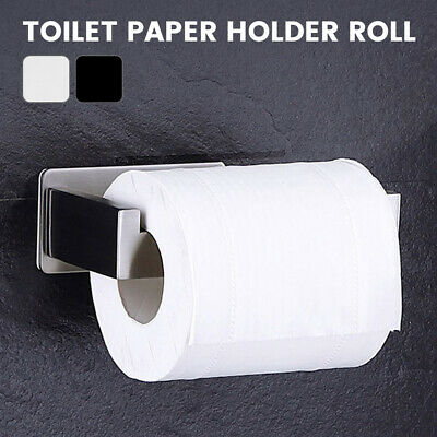 AU19.03 • Buy Wall Mounted Toilet Roll Holder Tissue Paper Stand Bathroom Bar Stainless Steel