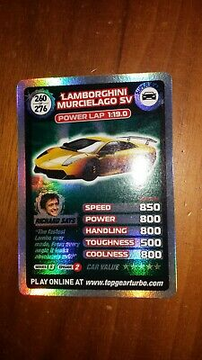 Top Gear Turbo Challenge SUPER RARE TRADING CARD 260/276 • 5£
