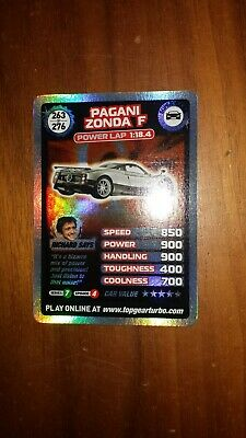 Top Gear Turbo Challenge SUPER RARE TRADING CARDS 263/276 JUST OPENED PACKETS • 5£