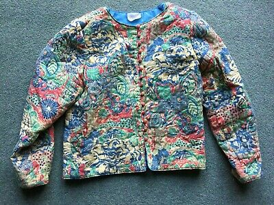 Vintage 80's Quilted Jacket (Clothkits) Approx 38 Ins Bust • 12.50£