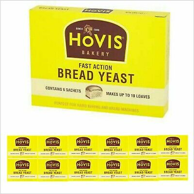 Hovis Fast Action Bread Yeast 6 Sachets 42g Perfect For Hand Baking And Machines • 2.79£
