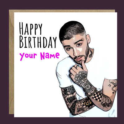 £3.60 • Buy Personalised ZAYN ONE DIRECTION Birthday Card Him Her Daughter Sister Friend