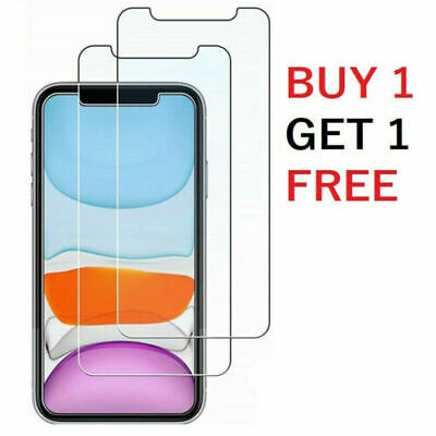 Tempered Glass Screen Protector For IPhone 12 12 Pro Max 11 X XR XS Max • 0.99£