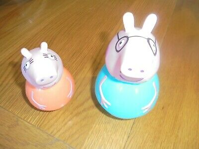 Peppa Pig Weebles Figures Mummy And Daddy • 13.99£