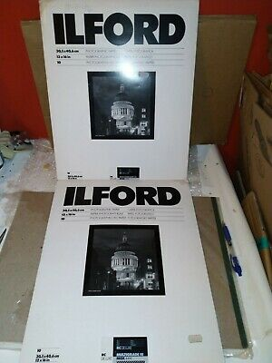 Ilford Multigrade FB Classic Gloss 12x16  17 Sheets Black & White Darkroom Paper • 38.63£