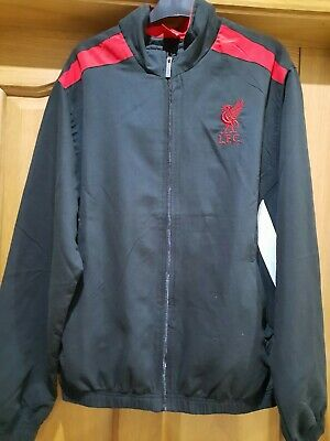 £22.99 • Buy Liverpool Mens Gents Black Woven Tracktop Tracksuit Top Jacket Size Large New