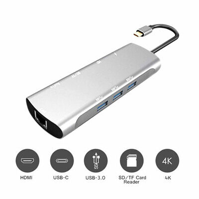 AU34.73 • Buy 9in1 TypeC USB-C To Data USB HUB Adapter Cable USB Combo 4K HDMI VGA Charge Port