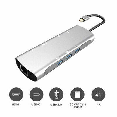 AU38.59 • Buy 9in1 TypeC USB-C To Data USB HUB Adapter Cable USB Combo 4K HDMI VGA Charge Port