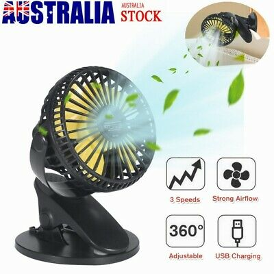 AU16.99 • Buy 360° Oscillating Portable Mini Fan USB Powered Home Office Clip On Desk Cooling