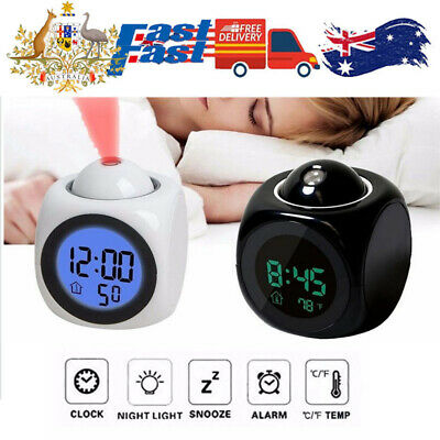 AU15.95 • Buy Projecting Alarm Clock Time Date Temperature Projector Digital LED Backlight