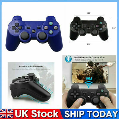 Dual Shock PS3 Wireless Controller PlayStation3 GamePad 10M Bluetooth Joystick • 9.28£