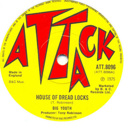 Big Youth / The Groove Master - House Of Dread Locks (7 ) • 19.99£