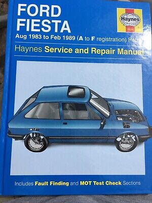 Haynes Ford Fiesta Service And Repair Manual Aug 1983 To Feb1989 A To F Reg 1030 • 0.99£