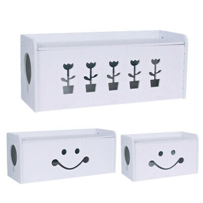 Home Cable Storage Box Wire Management Socket Case Safety Tidy Organizer White • 12.05£