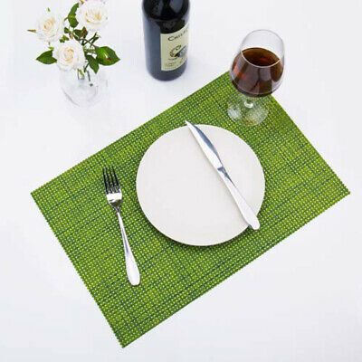 AU20.59 • Buy 6pcs PVC Placemats Washable Heat Insulation Dining Table Place Coaster Mats MG
