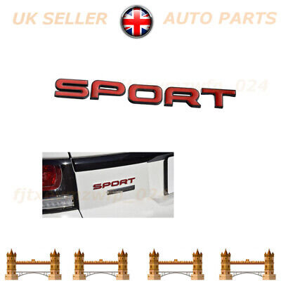 1PC New Gloss Red Sport Badge Lettering Autobiography L494 L320 For Range Rover • 11.48£