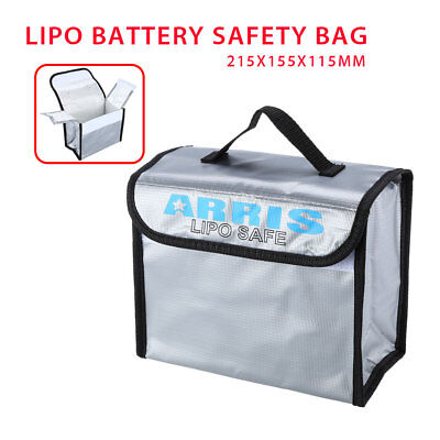215x155x115mm Anti-Explosion Lipo Battery Safe Bag For RC FPV Drone Storage Case • 9.71£