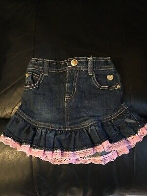 Baby Girls Denim Skirt With Pants Underneath Age 12 Months • 0.99£